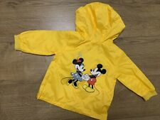 New Zara Baby Girls Yellow Mickey Mouse Lightweight Jacket Coat Size 9-12 Months