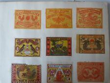 E4 VIELLES ETIQUETTES JAPON VERS 1900 COLLEES SUR FEUILLE  JAPAN 7
