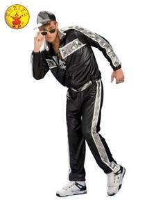 Adult 80s Hip Hop Costume Rapper Fancy Dress Mens Vanilla Ice MC Hammer New