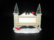 Rare Dept 56 Entrance Stone Sign Snow Village Christmas Subdivison Town No Box