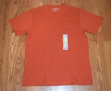 New Mens EDDIE BAUER Sunset Orange Pocket Basic T Shirt Sz 3XL XXXL