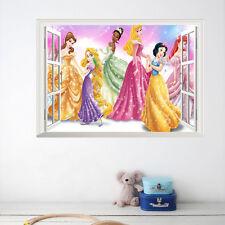 Princess 3D Window Vinyl Mural Wall Art Sticker Decals Nursery Decor Removable