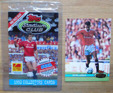 Ryan Giggs ROOKIE Stadium Club '92 - Football Card Manchester United