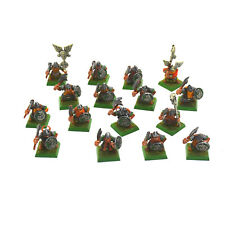 DWARFS 16 warriors with axe classic #1 Warhammer Fantasy dwarf plastic OOP
