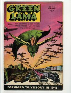 Vintage Green Lama Comic 1945 Issue #2 RARE Very Fine Condition!