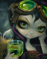 Jasmine Becket-Griffith print steampunk fairy tornado SIGNED Absinthe Goggles
