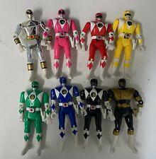 Bandai Mighty Morphin Power Rangers Flip Head Figures Lot of 8 Silver Not Flip