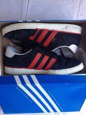 Adidas Originals Ciero Suede Trainers - Blk/Chilli Red/White (UK men's size 11)