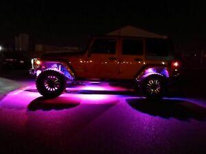 ALL Color LED Rock Lights Underbody Offroad For JEEP Wrangler JK JL JKU TJ CJ LJ