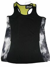 NUEVO Crivit Mujer Camiseta funcional / Talla M 40 / 42 negro-gris-amarillo