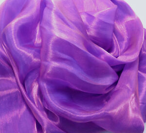 Kxx Shiny Mirror Crystal Organza Bridal Dress Wedding Decoration Fabric Material