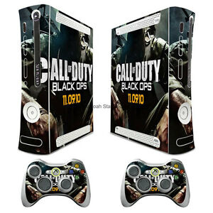 BALCK OPS COD4 Xbox360 Skins Vinyl Sticker Decals Cover for xbox360 Console 213