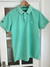 Mens Superdry Polo Shirt Green Mint Size XL