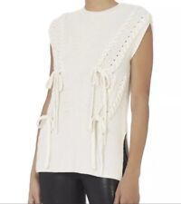 Exclusive for Intermix Ivory Wool Cashmere Top Vest P $325