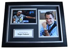 Roger Federer Signed A4 FRAMED Autograph Photo Display Tennis Sport AFTAL & COA