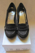 LNIB Style & Co. Women's Claire Dark Brown Suede Leather Penny Loafer Pumps 7.5M