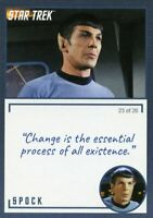 Star Trek TOS Archives & Inscriptions card #2 Spock Variation 23 out of 26
