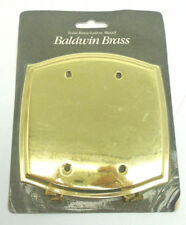 Baldwin 4765-030-CD Blank Switch Plate Solid Brass 448HW