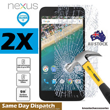 Huawei Google Nexus 6P Genuine Tempered Glass Screen Protectors - 2x