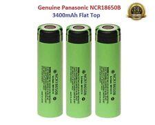 3x Genuine Panasonic 18650 3400mAh 3,7v Rechargeable Lion Battery Vape Flat Top