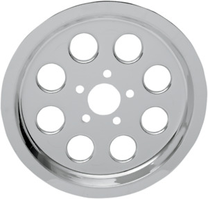 Drag Specialties Chrome Outer Rear Pulley Insert 1201-0539