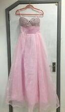 Baby pink, jewelled bust prom/ ball gown 10/12