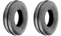 TWO 9.5-15  9.5L-15 Tri- 3-Rib F-2 Tubeless Tractor Tires 8 Ply Rated Heavy Duty