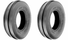 TWO 7.5LX15, 7.5L-15 F-2 Triple Rib Front Farm Tractor Tubeless Tires 6 Ply Rate