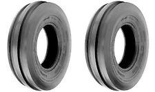 TWO (2) 6.00-16 6.00X16 600-16 600X16 Tri-Rib 3 Rib 6PLY Tubeless Tractor Tires