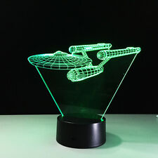 Star Trek warships 3D lamp colorful touch LED atmosphere lights Projection lamp