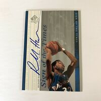 Richard Hamilton 1999-00 SP Authentic Sign of the Times Auto Wizards Pistons RH