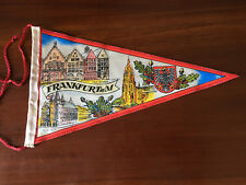 Vintage European travel Pennants/Flags Frankfurt