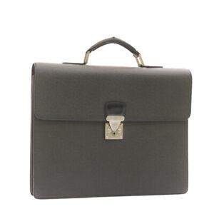 LOUIS VUITTON Taiga Moscova Business Bag Briefcase Ardoise M30032 Auth ar4417