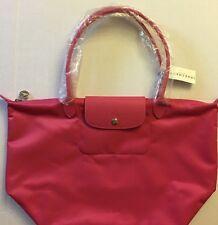 Longchamp LE Pliage Neo Large Shoulder Travel Bag Tote Purse Handbag NWT Pink