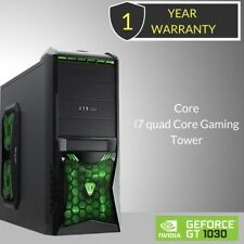 . Windows 10 Core i7 Quad Core Gaming Tower PC - 8GB DDR3 - 2000GB HDD-HDMI _
