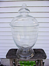 Large 1950s Apothecary Candy Counter Display Jar