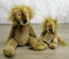 1990 Boyds Bears LION Set (2) SPIKE & BUTCH Jointed Teddy Bubby Bears Lions Tag!