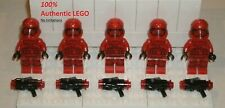 LEGO NEW Authentic Star Wars Sith Trooper (5x) + Stud Blasters 75266 Minifigure