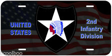 2nd Infantry Division Novelty Car License Plate