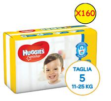 Huggies Unistar 160 Diapers Size 5 Junior (11-55.1lbs) 10 Packs of 16 Pcs