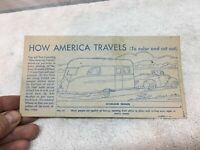 Vtg 1940s Nabisco Shredded wheat  Cars with Camper  1pc  How America Travels