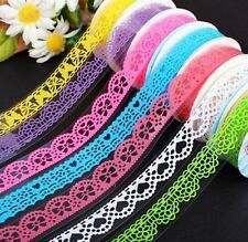 Lace Rolls Deco Washi Tape Adhesive Scrapbooking Sticker ~Random 1PC:)