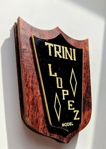 One Reproduction Vintage Gibson Trini Lopez Complete Tailpiece Badge Assembly
