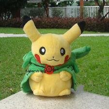 "Pikachu With Rayquaza Suit 8"" Pokemon Go Plush Toy Hat Cloak Stuffed Animal Doll"