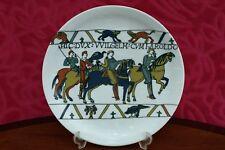 Rare Vintage French Limoges Capisserie De Bateaux Porcelain Plate