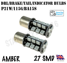 2X 1156/BA15S/P21W LED AMBER CANBUS REAR TAIL INDICATOR BULBS AUDI BMW FORD VW
