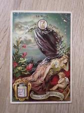 CHROMO TRADE CARD LIEBIG S 447 Le Cours du Jour LA NUIT