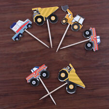 24pcs Cars Paper Christmas Cake Topper Cupcake Flags Cupcake Toppers Picks