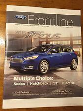 Ford Frontline Focus 2015 Magazine, Catalog, Brochure