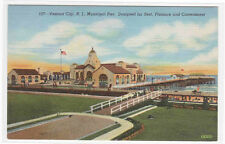 Municipal Pier Ventnor City New Jersey linen postcard